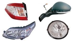 Espejos Retrovisores, Faros y pilotos Iluminacion