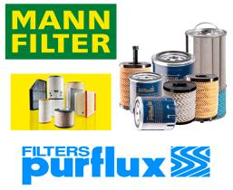 Filtros de Aceite, Aire, Combustible y Habitaculo